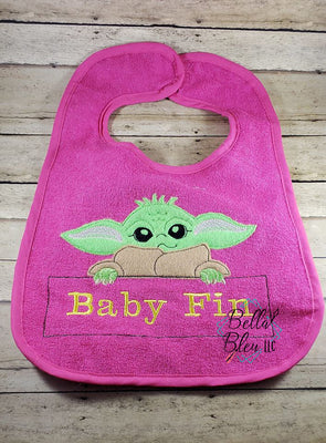 Inspired Baby Yoda Applique machine embroidery design