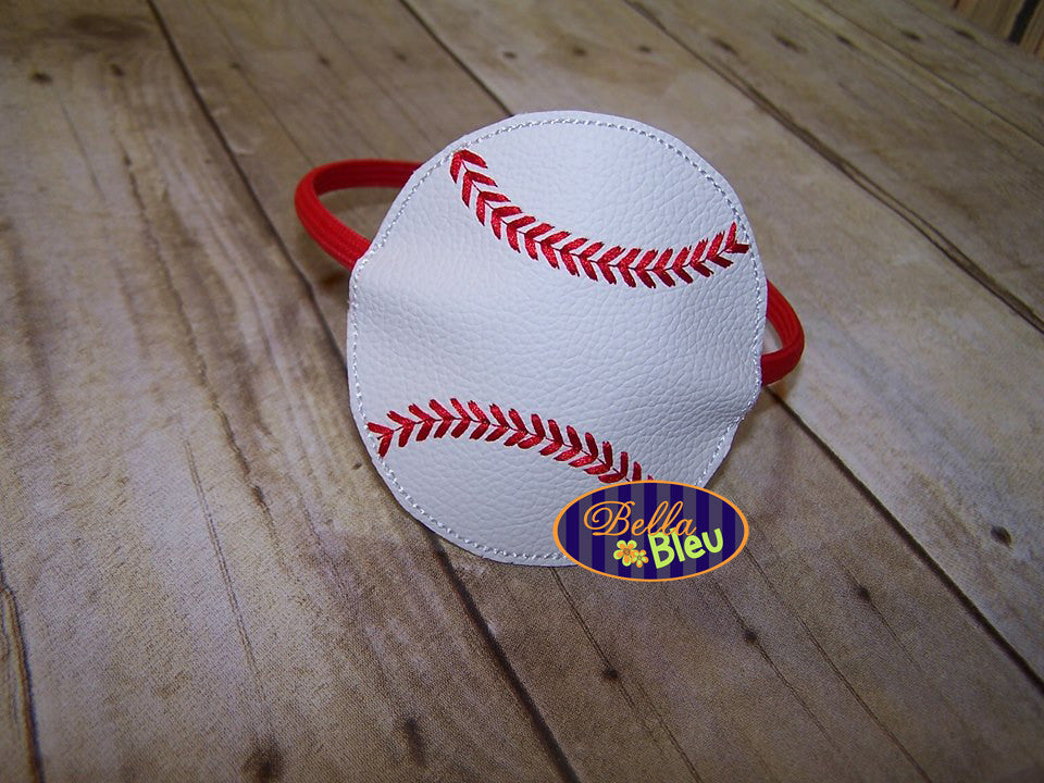 ITH in the hoop Baseball Headband Topper Slider machine embroidery