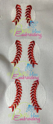 Baseball Softball Embroidery Filled mini designs