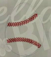 Baseball Softball Easter Egg Machine Applique Embroidery Design
