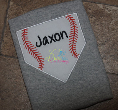 Baseball Softball Ball Game Baseball Plate Applique Embroidery Designs Design Monogram