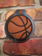 ITH Christmas Ornament Basketball Machine Applique Embroidery