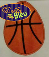Basketball Easter Egg Machine Applique Design