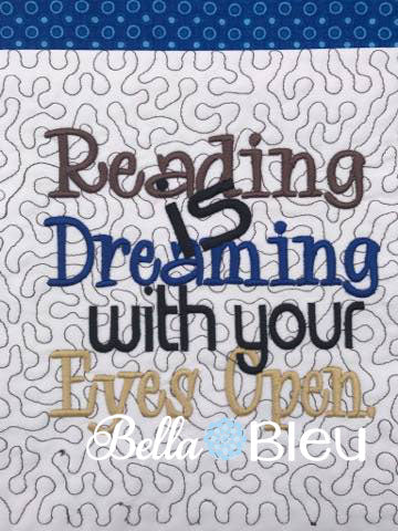 Reading Pillow Quote Reading Pillow Embroidery Design Saying