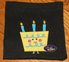 Birthday Cake and Candles Applique Embroidery Designs