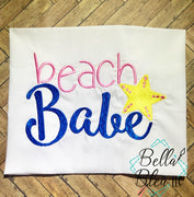Beach Babe with starfish Machine Embroidery design
