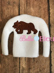 Adorable Brown Bear Elf Sweater In the hoop ith embroidery design