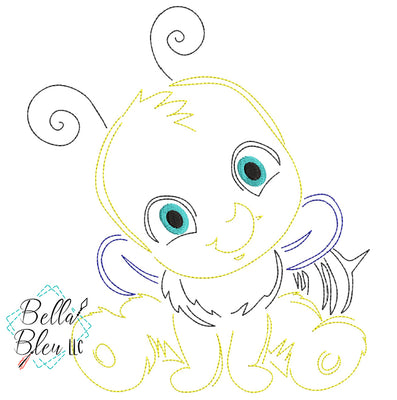 Quick Stitch Bee Insect Bug Machine Embroidery Design COLORWORK