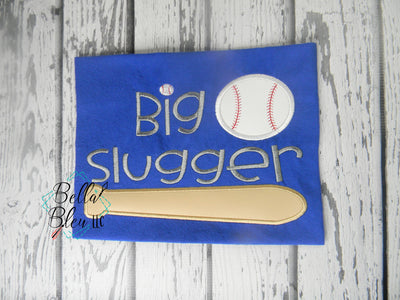 Big Slugger Softball Baseball Bat Ball Machine Applique Embroidery Design