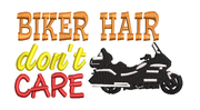 Biker Hat don't care with motorcycle baseball hat cap machine embroidery design