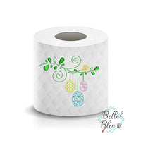 Bird on a Branch Easter Eggs Toilet Paper Saying Machine Embroidery Design sketchy