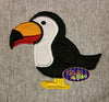 Tropical Toucan Bird Machine Applique Embroidery Design