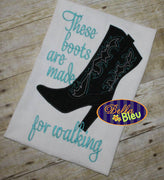 Sexy Cowboy Cowgirl heels Boots Machine Applique Embroidery Design