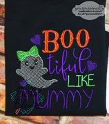 Halloween Sketchy - Ghost Embroidery - Boo tiful Like Mummy Sketchy Machine