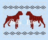 Faux Boxer Dog Machine Embroidery Smocking Design
