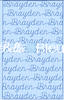 Stipple Name Brayden Quilting Stitch Machine Embroidery Design