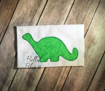 Dinosaur silhouette zig zag Applique Machine Embroidery design