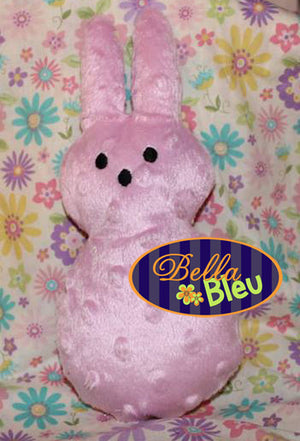 In the Hoop Easter Bunny Stuffie Embroidery Applique design Easter machine