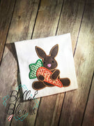 Easter Bunny with Carrot Applique Machine Embroidery design