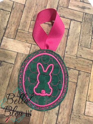 Easter Bunny Motif in Egg Machine Embroidery design