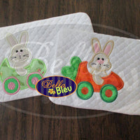 Easter Bunny Driving a Egg Car