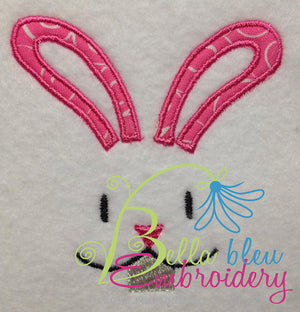 Bunny Face Embroidery Applique design Easter machine embroidery