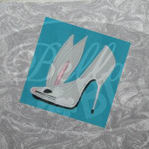 Sexy Easter Bunny with tail Stiletto Heels Applique Embroidery Designs Design Monogram