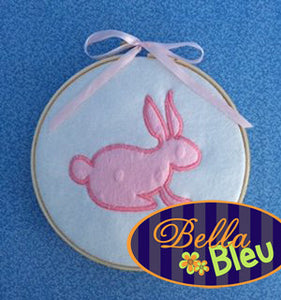 Beautiful Easter Bunny Rabbit Silhouette Motif Applique Embroidery  Design