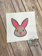Easter Bunny face Sketchy Urban fill Machine Embroidery design 5x5