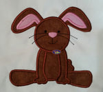 Adorable Cuddly Easter Bunny Rabbit Applique Embroidery Design