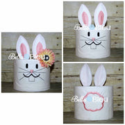 Easter Bunny Rabbit In the hoop ITH Toilet Paper Design