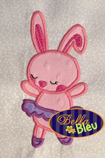 Bunny Ballerina in a tutu Applique Embroidery Ballet Design Princess