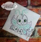 Quick Stitch Butterfly Insect Bug Machine Embroidery Design COLORWORK