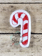 Christmas Candy Cane Feltie Machine Embroidery Design