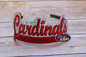ITH in the hoop Cardinals Sports Headband slider Topper machine embroidery