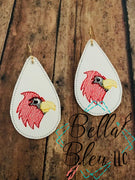 ITH Sketchy Cardinals Bird Earrings