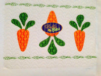 Faux Smocking Carrot Bunch Easter Farm Machine Embroidery Design