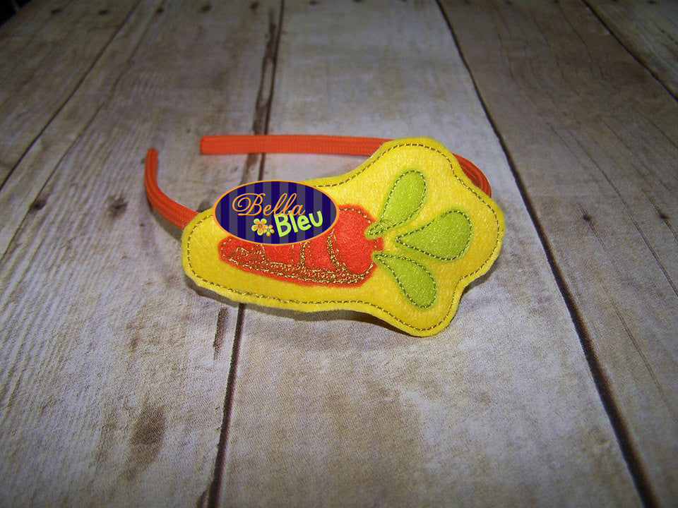 ITH in the hoop Easter Carrot Headband Topper Slider machine embroidery