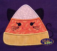 Halloween Kitty Cat Candy Corn Machine Applique Embroidery Design