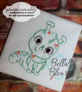Quick Stitch Caterpillar Insect Bug Machine Embroidery Design COLORWORK