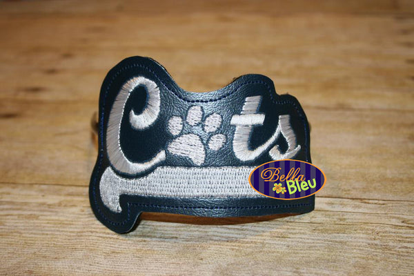 ITH in the hoop Cats with Paw Sports Headband Slider Topper machine embroidery