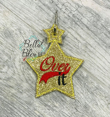 Over It! Zipper bag Charm DIGITAL DOWNLOAD embroidery file ITH In the Hoop Nov 11 2019