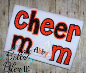 Cheer Mom with Megaphone Applique Embroidery Design Cheerleading
