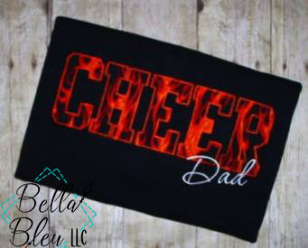 Cheer Dad Applique Embroidery Design Cheerleading
