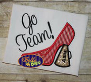 Cheer Cheerleader Sexy Megaphone Heels Heel Machine Applique Embroidery design