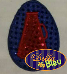 Cheer Cheerleader Easter Egg  with megaphone Machine Applique Embroidery Design