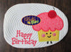 Kawaii Cherry Topped Birthday Cupcake Applique Embroidery Designs