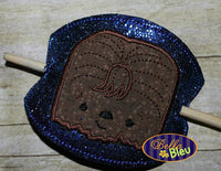 ITH in the hoop Chewie barrette Pony tail holder machine embroidery