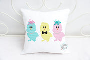 Easter Chick Trio Sketchy Machine Embroidery design