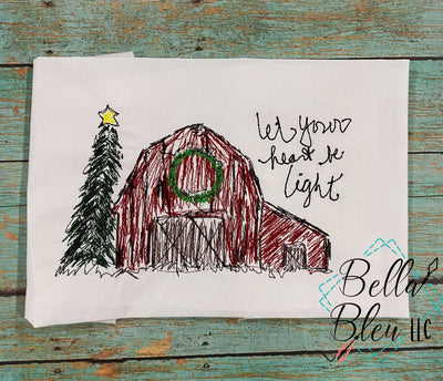 Christmas Barn scribble design